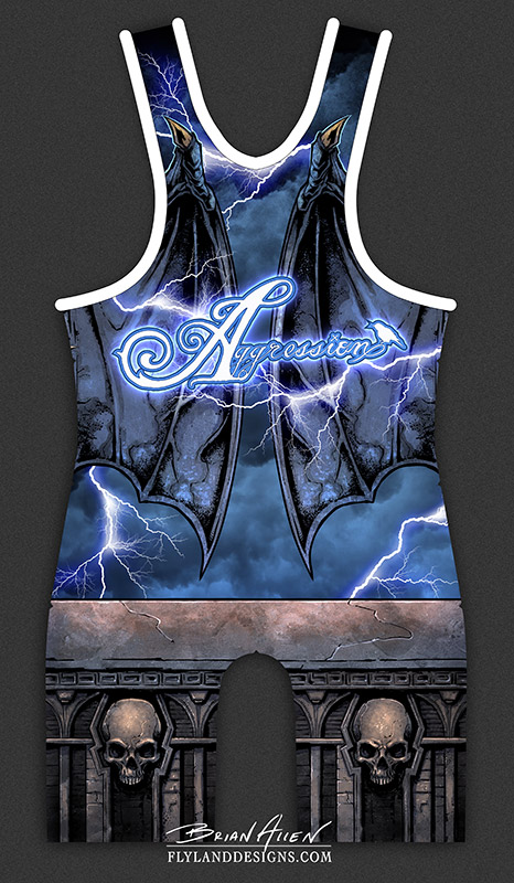 Evil Gargoyle Illustration for Dye-Sublimated Uniform