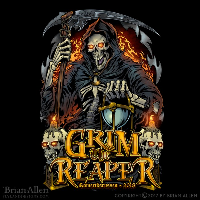 Dark illustration of a grim reap