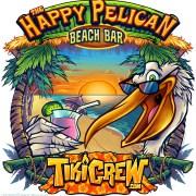 Happy Pelican at the Beach