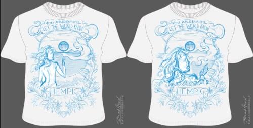 Marijuana Tribute T-Shirt Illustration