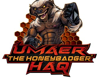 Mascot and logo design of a Honeybadger for MMA fighter