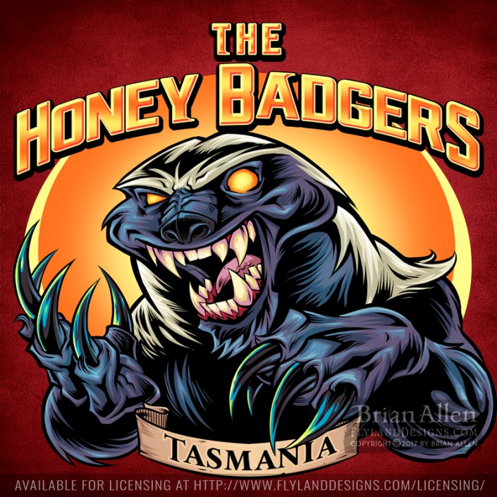 logo design of a honey badger wi