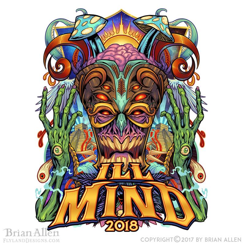 Psychedelic Magic Tiki Mask Russ Bus Logo - Flyland Designs ...