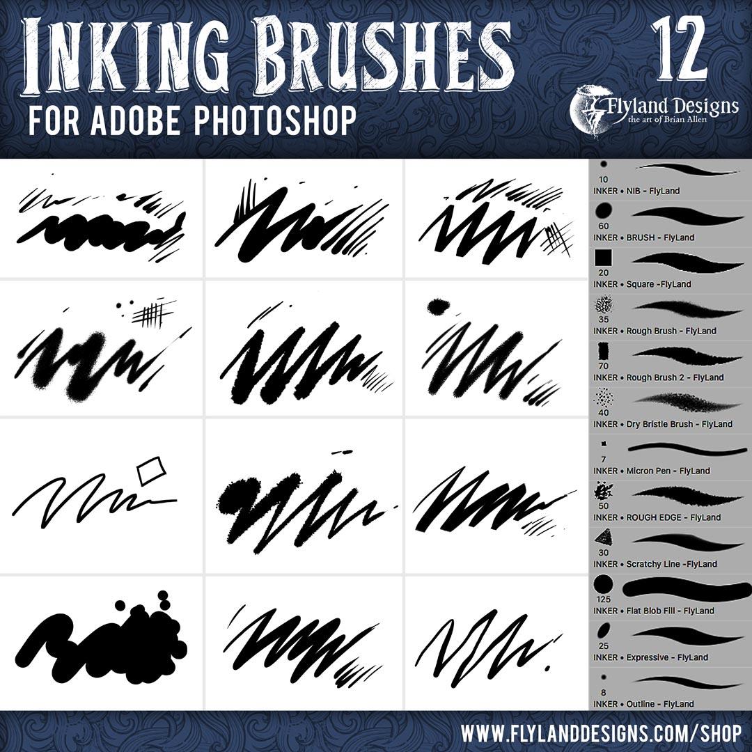 Images of custom photoshop brush