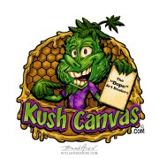 Marijuana bud leaf mascot logo character I created