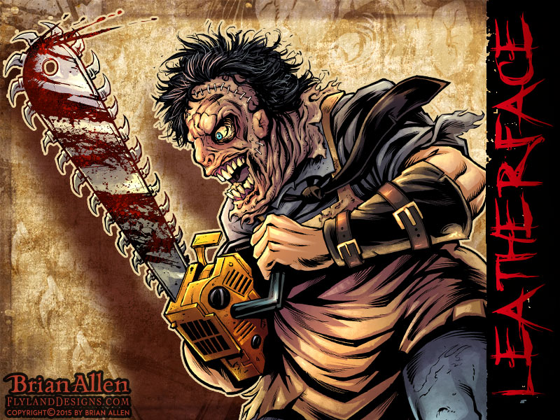 Character design of Leatherface from Texas Chainsaw Massacre