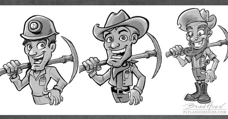 Miner Mascot Character