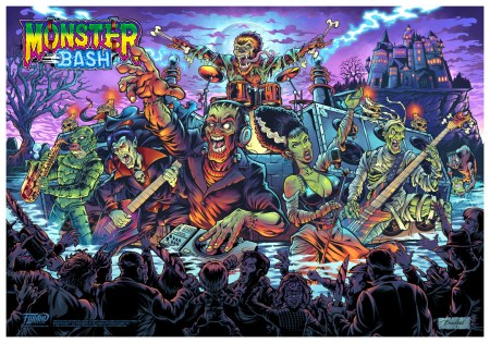 Poster of Monster Bash pinball artwork