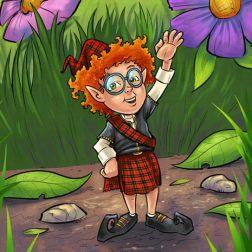 Illustration of a Scottish Elf