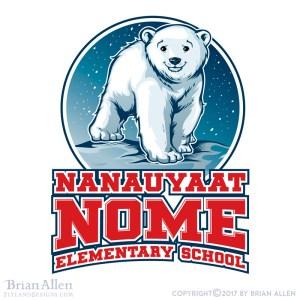 Cute little polar bear cub smili