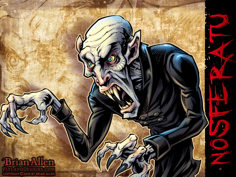 Character design of horror movie icon Nosferatu