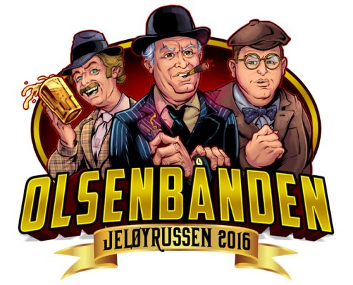 Olsenbanden caricatures for Russ logo