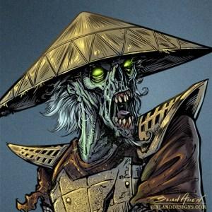 Samurai character design for ipad app