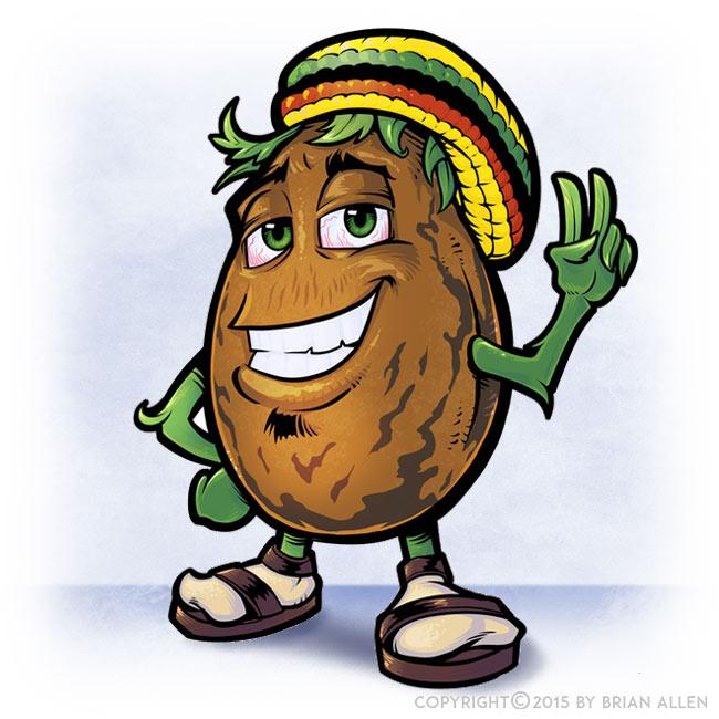 Marijuana Seed Mascot Character