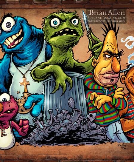 Parody of Sesame Street Characte