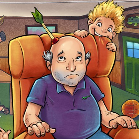 Illustration of the Old Man In The Shoe for a children's book