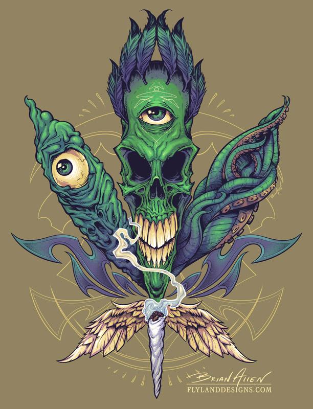 evil t shirt illustration flyland designs