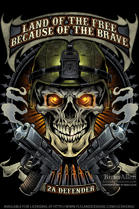 Soldier skull wearing army helme