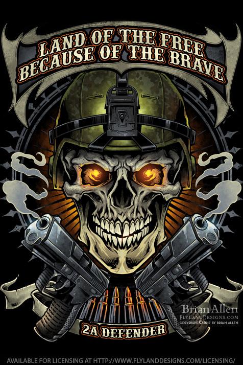 Soldier skull wearing army helme