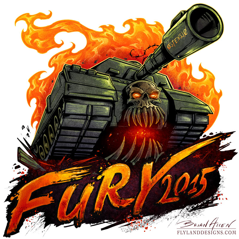Logo design I created for a Russebuss theme in Norway, as part of the Russefeiring tradition, of a tank with a skull on it.