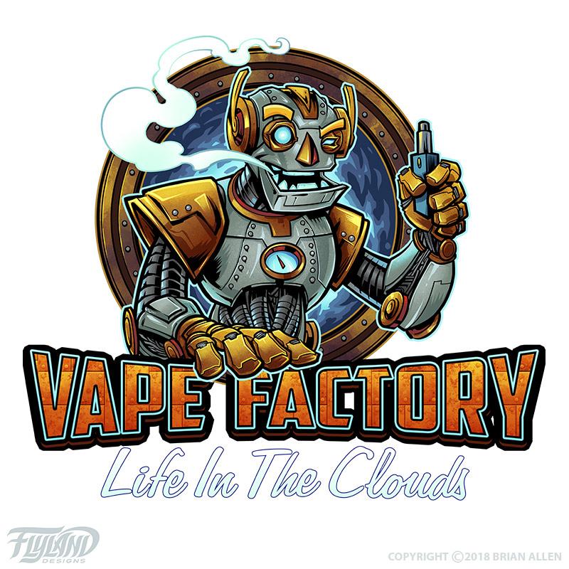 Robot vaping, blowing smoke out