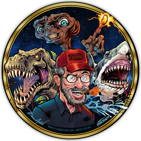 Limited Edition metallic foil disc golf disc of Steven Spielberg