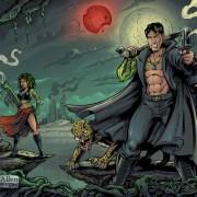 Comic Book Zombie Splash Page