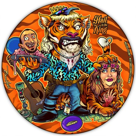 Disc golf disc of Tiger King Joe Exoitc