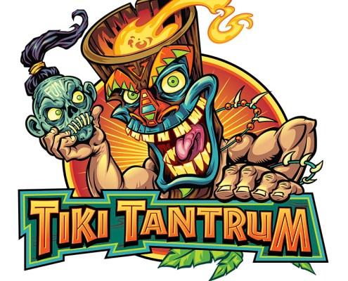 Crazy Tiki guy holding a shrunke