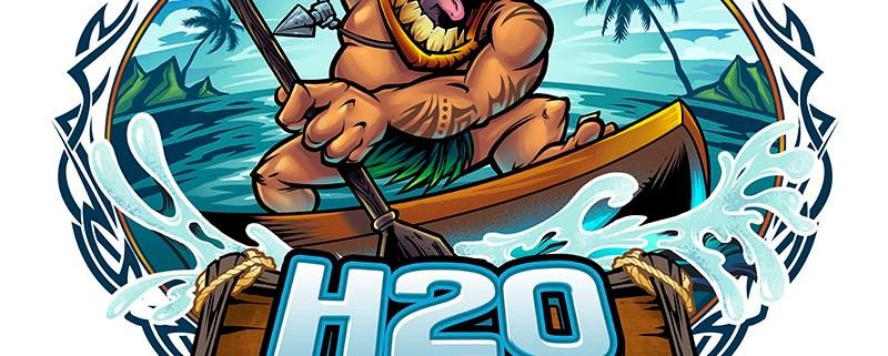 Tiki guy paddle boarding in the