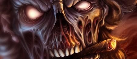 Undead Zombie Gunslinger digital painting