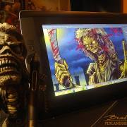Product shot of Iron Maiden illustration in Wacom Cintiq Companion