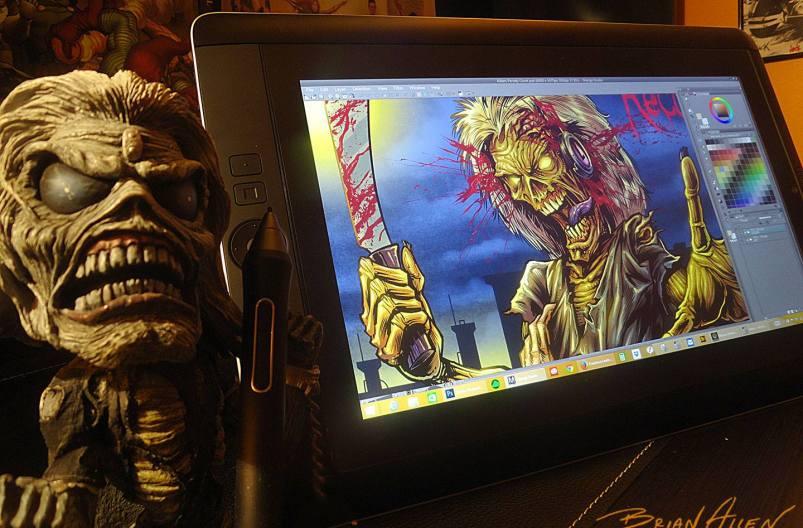 Product shot of Iron Maiden illustration in Wacom Cintiq Companion