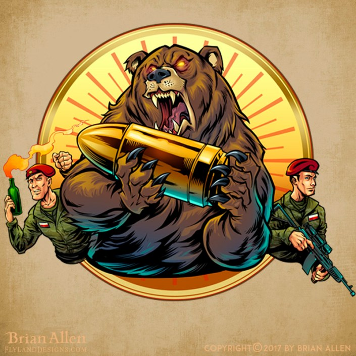 Russian military inspired bear h