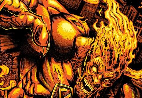 Evil Superhero T-Shirt Illustration