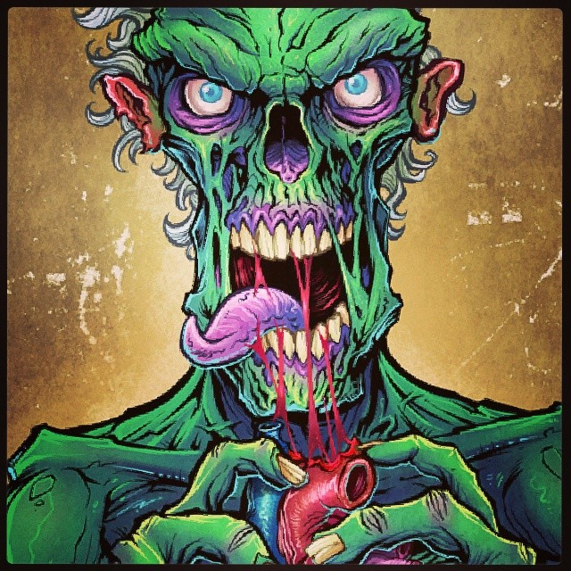 Zombie graphic I illustrated for lethal threat graphics.I'm new to instagram, please follow me if you like my art!#art #illustration #zombie #zombies #snack #gory #creepy #graphics #vinyl #vehicle #decal #lethalthreat #brianallen #flylanddesigns