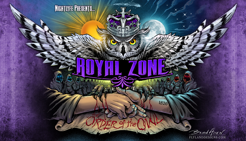 Album cover design for Royal Zone Records