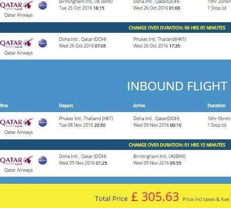 Thailand Flights Uk