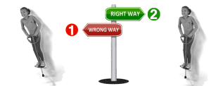 right and wrong way of pogo riding