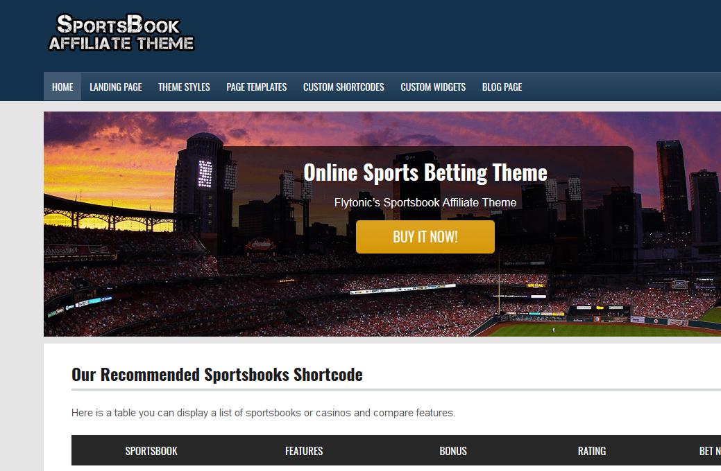 sportsbook theme