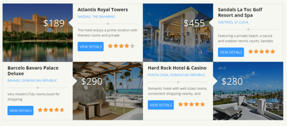 Feature up to 8 hotels WP Bookit Theme