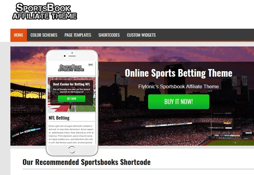 the sportsbook theme