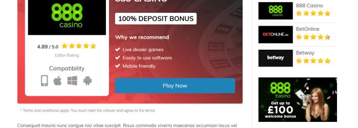 Casino Roulette WordPress Affiliate Theme