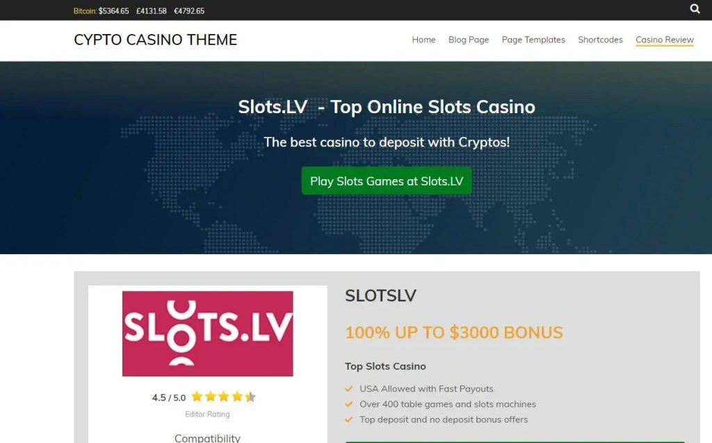 crytpo casino wordpress theme affiliates