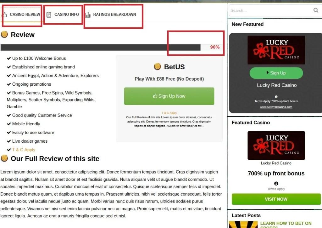 casino slots WordPress theme