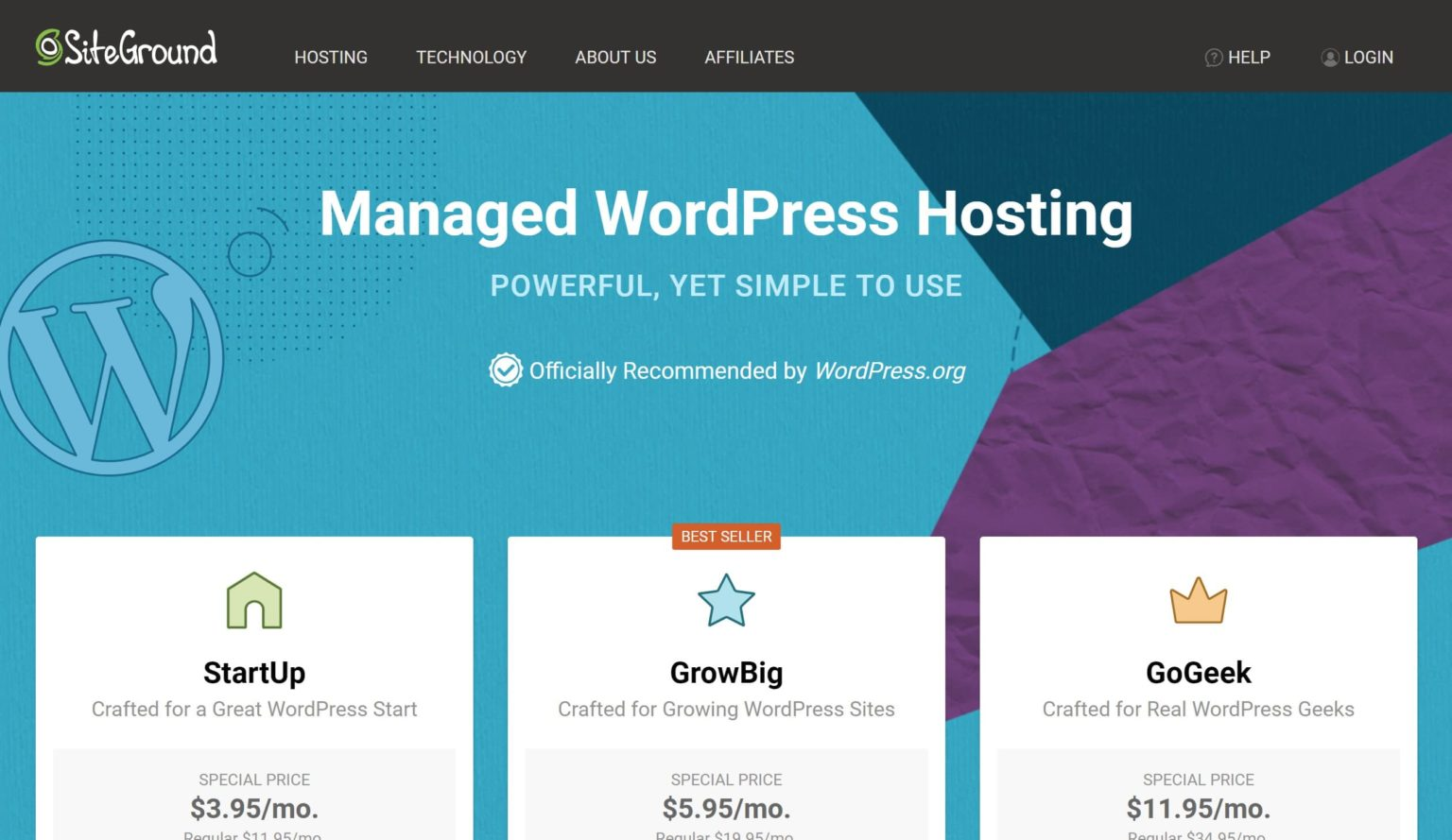 siteground is the fastest WordPress hosting provider