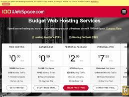 100WebSpace - free wordpress hosting services
