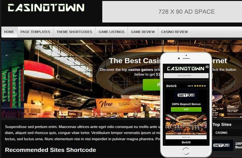 casinotown wordpress theme
