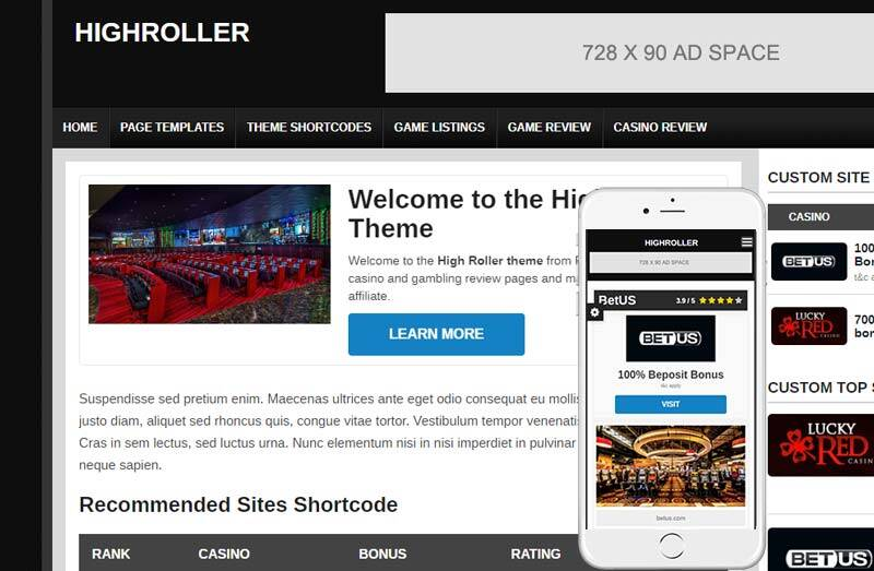 highroller wordpress theme