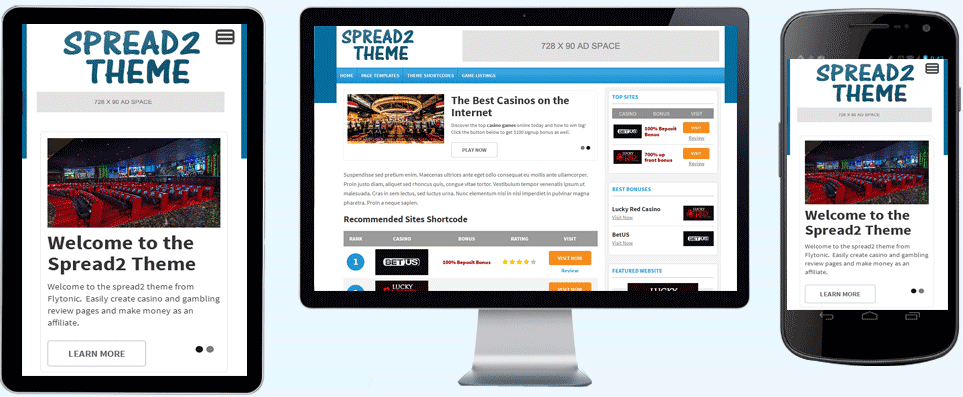spread 2 wordpress theme